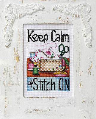 Keep Calm & Stitch On - Cross Stitch Pattern