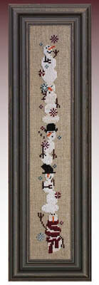 Giggly Wigglies Snowmen - Cross Stitch Pattern