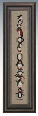 Giggly Wigglies Penguins - Cross Stitch Pattern
