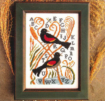 Red Winged Blackbird - Cross Stitch Pattern