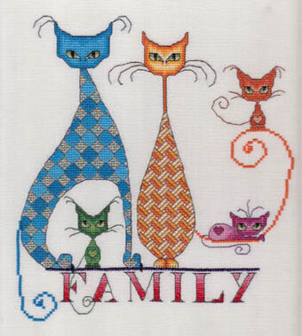 Cat Family - Cross Stitch Pattern