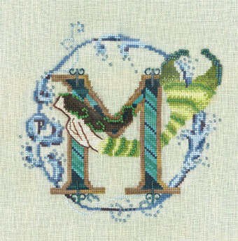 Letters From Mermaids M - Cross Stitch Pattern