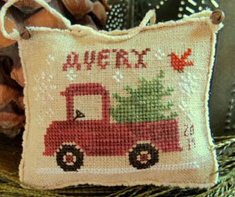 Avery's Little Red Truck - Cross Stitch Pattern