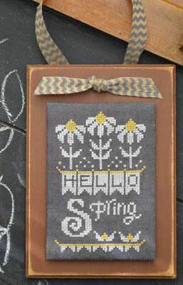 Year in Chalk - April - Cross Stitch Pattern