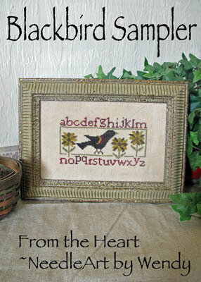 Blackbird Sampler - Cross Stitch Pattern