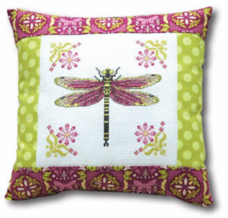 Dragonfly Pillow - Cross Stitch Pattern
