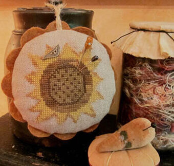 Sunflower Love Pincushion - Cross Stitch Pattern