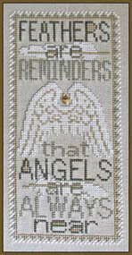 Feathers (with charm) - Cross Stitch Pattern