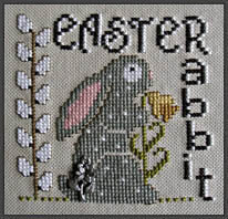 Easter Rabbit (with charm) - Cross Stitch Pattern