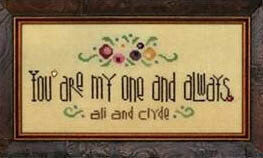 My One and Always (with charm) - Cross Stitch Pattern