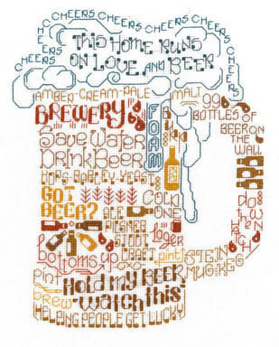 Let's Drink Beer - Cross Stitch Pattern