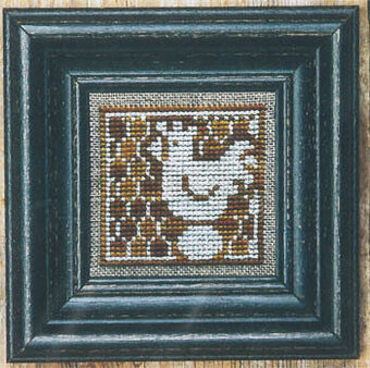 Golden Spring Chicken & White - Cross Stitch Pattern