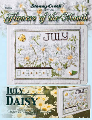 Flowers of the Month July - Cross Stitch Pattern
