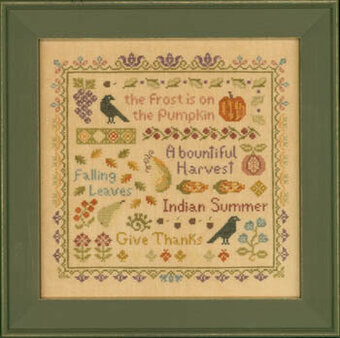 Antique Autumn Sampler - Cross Stitch Pattern