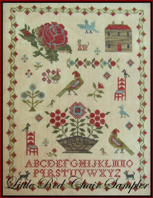 Little Red Chair Sampler - Cross Stitch Pattern