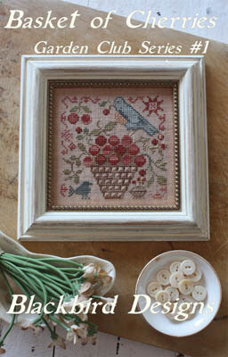 Basket of Cherries - (Garden Club) - Cross Stitch Pattern