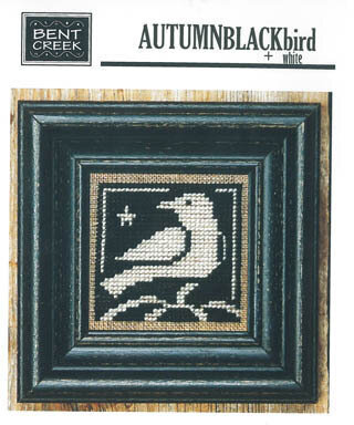Autumn Blackbirds + White - Cross Stitch Pattern