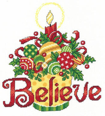 Believe Ornaments - Cross Stitch Pattern