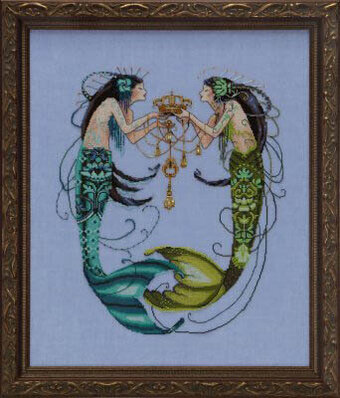 Twin Mermaids, The - Cross Stitch Pattern