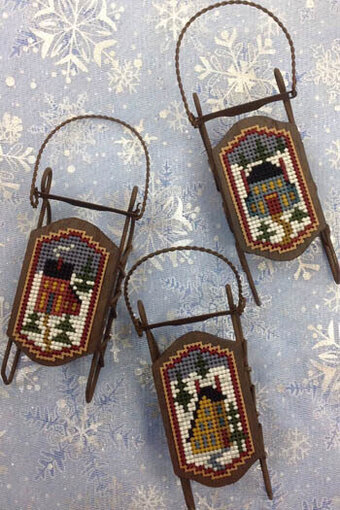 Saltbox Sleds - Cross Stitch Pattern