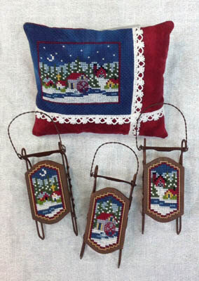 Small Sleds - Mini Village - Cross Stitch Pattern