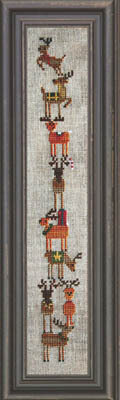 Giggly Wigglies - Reindeer - Cross Stitch Pattern