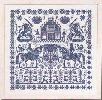 Permin Blue Sampler Cross Stitch Pattern 123stitch Com