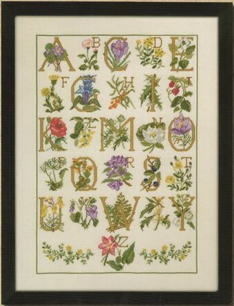 Flower ABC - Cross Stitch Pattern