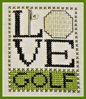 Love Golf w/charm - Cross Stitch Pattern