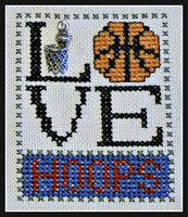 Love Hoops w/charm - Cross Stitch Pattern