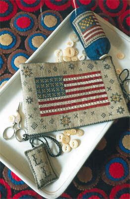 Flag of Glory Needlebook - Cross Stitch Pattern