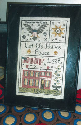 Grant House 1865 Sampler - Cross Stitch Pattern