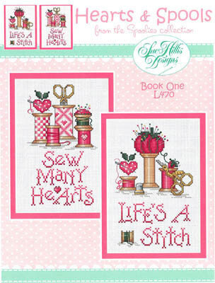 Hearts & Spools - Cross Stitch Pattern