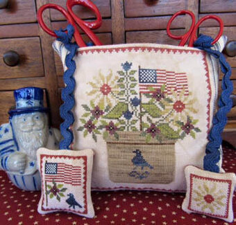 Patriotic Scissor Pocket - Cross Stitch Pattern