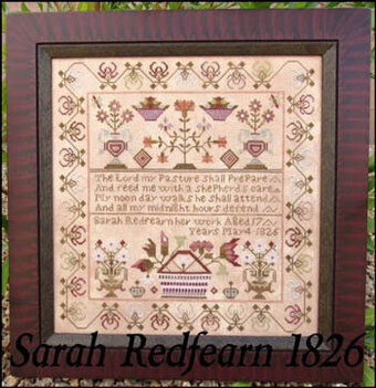 Sarah Redfearn 1826 - Cross Stitch Pattern