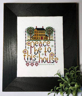 Peace Be To This House - Cross Stitch Pattern
