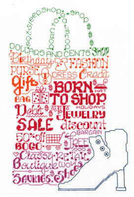 Let's Shop Till We Drop - Cross Stitch Pattern