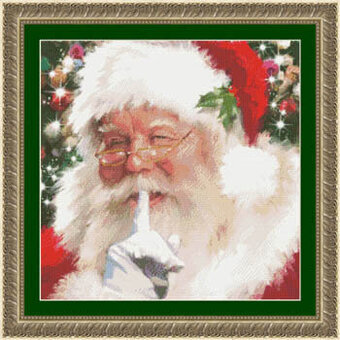 Santa Shhh - Cross Stitch Pattern