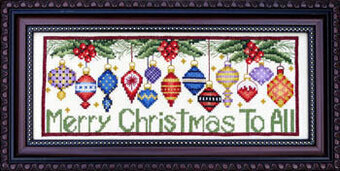 Merry Christmas to All - Cross Stitch Pattern