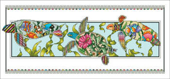 Turtle Tropic Parade - Cross Stitch Pattern