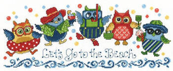 Beach Owls - Cross Stitch Pattern