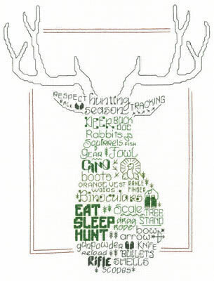 Let's Hunt - Cross Stitch Pattern