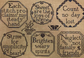 Quaker Inspired Medallions - Cross Stitch Pattern