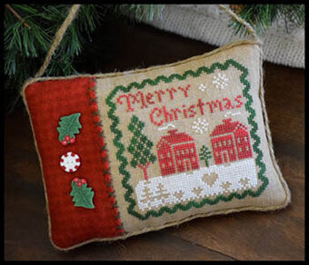 Merry Christmas Pillow - Cross Stitch Pattern