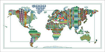 What a Wonderful World - Cross Stitch Pattern
