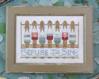 Refuse to Sink - To the Beach #9 - Cross Stitch Pattern