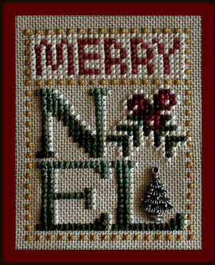 Merry Noel (w/charm) - Cross Stitch Pattern