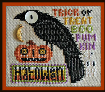 Halloween (w/charm) - Cross Stitch Pattern