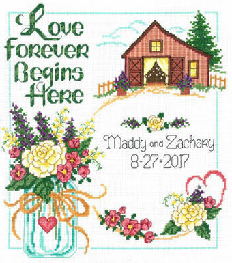 Country Wedding - Cross Stitch Pattern