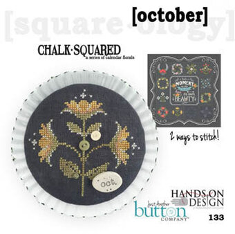 Chalk Squared - October - Cross Stitch Pattern